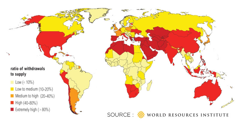 2/3 of the world's population could experience water restrictions by 2025
